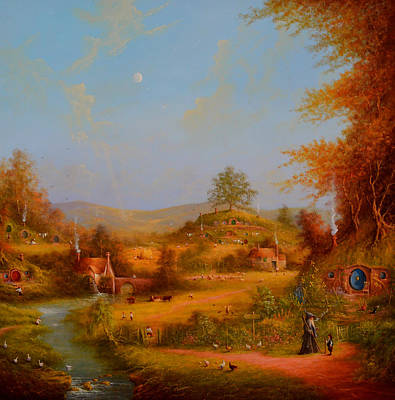 The Shire Painting - Concerning Hobbits by Joe Gilronan