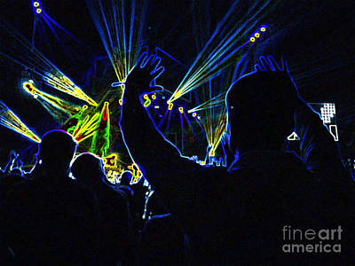 Nikki Vig Royalty-Free and Rights-Managed Images - Concert Crowd - Electric Art by Nikki Vig