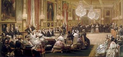 Galerie Painting - Concert In The Galerie Des Guise by MotionAge Designs