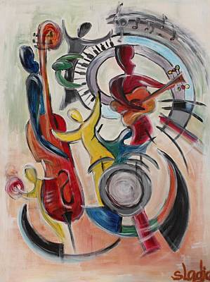 Art Print featuring the painting Concert by Sladjana Lazarevic