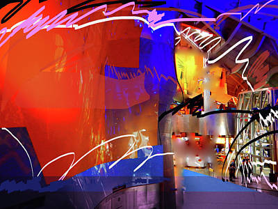 Digital Art - Concert Stage by Walter Fahmy