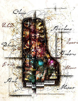 Composer Digital Art - Concerto II by Gary Bodnar