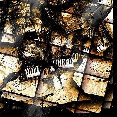 Grand Piano Digital Art - Concerto V by Gary Bodnar