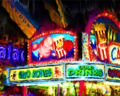 Concession Stand Art Print by Fred Baird