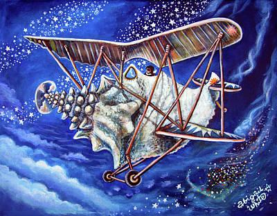 Bi-plane Painting - Conch Flyer by Abigail White
