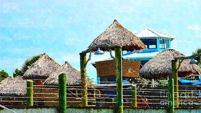Conch House Tiki Huts Art Print
