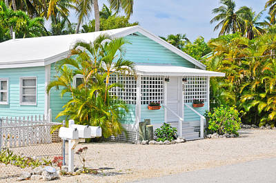 Photograph - Conch Key Aqua Cottage  by Ginger Wakem