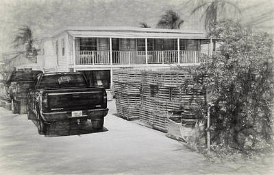 Photograph - Conch Key Crab Pots In Yard by Ginger Wakem