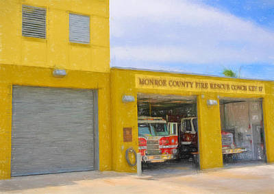 Photograph - Conch Key Fire Rescue 2 by Ginger Wakem