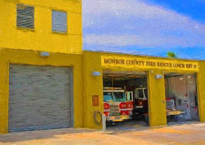 Photograph - Conch Key Fire Rescue 3 by Ginger Wakem