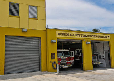 Photograph - Conch Key Fire Rescue 1 by Ginger Wakem