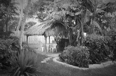 Photograph - Conch Key Garden Chickee 2 by Ginger Wakem
