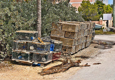 Photograph - Conch Key Lobster Traps 1 by Ginger Wakem