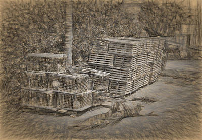 Photograph - Conch Key Lobster Traps 2 by Ginger Wakem