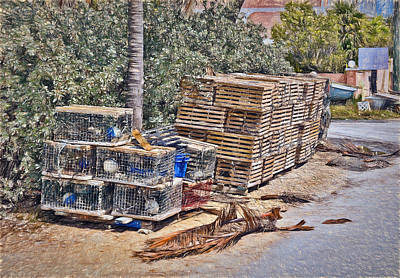 Photograph - Conch Key Lobster Traps 3 by Ginger Wakem