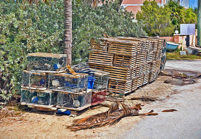 Photograph - Conch Key Lobster Traps 4 by Ginger Wakem