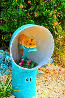 Photograph - Conch Key Mailbox Art by Ginger Wakem