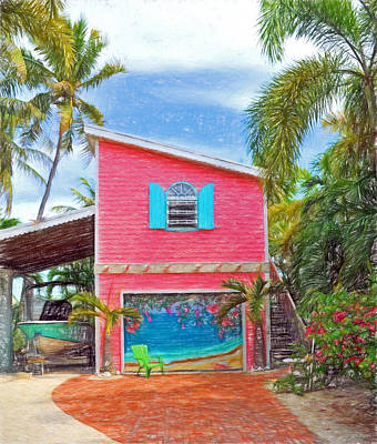 Photograph - Conch Key Pink Cottage 2 by Ginger Wakem