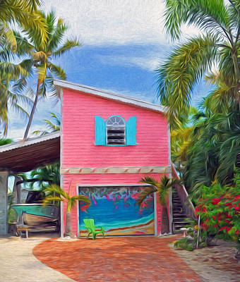 Photograph - Conch Key Pink Cottage 4 by Ginger Wakem