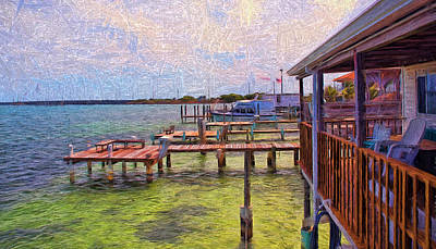 Photograph - Conch Key Porch And Docks 3 by Ginger Wakem