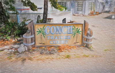 Photograph - Conch Key Trailer Court 1 by Ginger Wakem