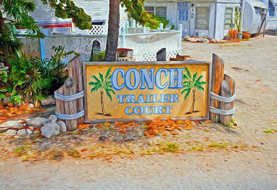 Photograph - Conch Key Trailer Court 2 by Ginger Wakem
