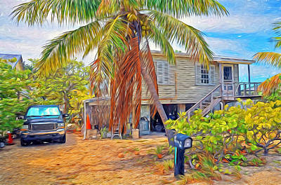 Photograph - Conch Key White Cottage 4 by Ginger Wakem