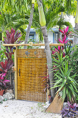 Photograph - Conch Key Wicker Gate 1 by Ginger Wakem