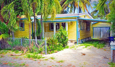 Photograph - Conch Key Yellow Cottage 2 by Ginger Wakem