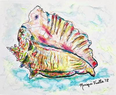 Painting - Conch Shell by Monique Faella