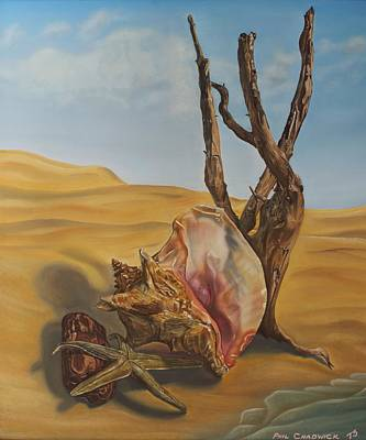 Painting - Conch Shell by Phil Chadwick