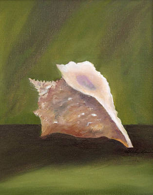 Conch Shell Art Print by Shirley Lawing