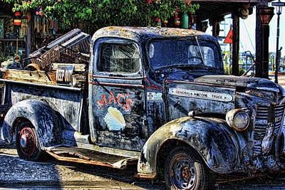 Conch Truck Print by Joetta West