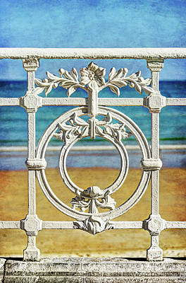 Concha Bay Railing In San Sebastian Art Print