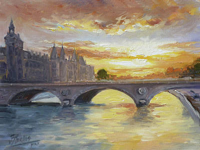 Sunset Painting - Conciergerie, Paris by Irek Szelag
