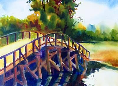 Concord Mass Painting - Concord Bridge by Linda Emerson