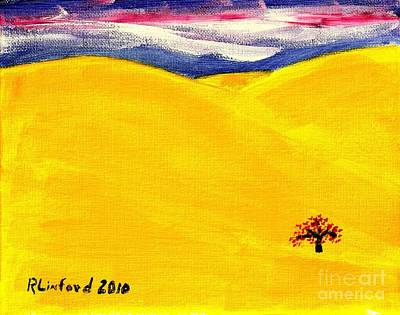 Painting - Concord California Summer 1 by Richard W Linford