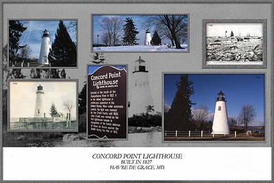 Concord Photograph - Concord Point Lighthouse Collage by Skip Willits