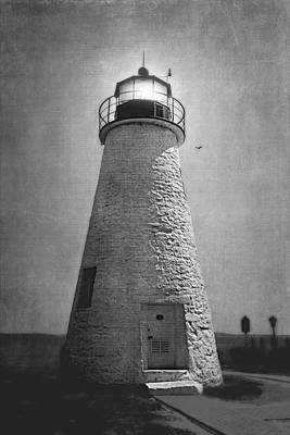 Photograph - Concord Point Lighthouse In Black And White by Trina  Ansel