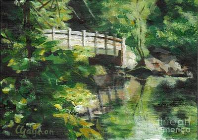Concord Massachusetts Painting - Concord River Bridge by Claire Gagnon
