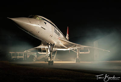 Photograph - Concorde In The Mist by Tim Beach