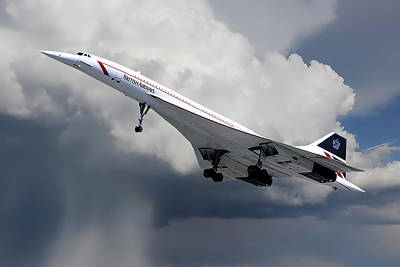 Passenger Photograph - Concorde London Heathrow by Nichola Denny