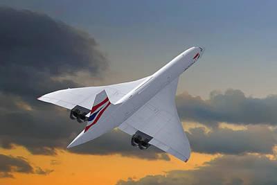 Passenger Photograph - Concorde by Nichola Denny