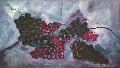 Grapes Painting - Concords by Roxy Rich