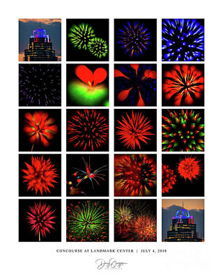 Photograph - Concourse At Landmark Center Fireworks by Doug Sturgess