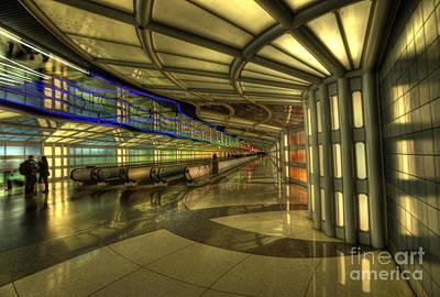 Airport Concourse Photograph - Concourse Pedway by David Bearden