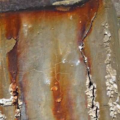Photograph - Concrete Abstract by rd Erickson