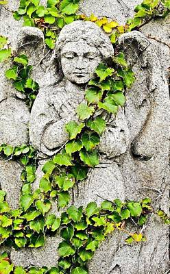 Photograph - Concrete Angel by Catherine Hill