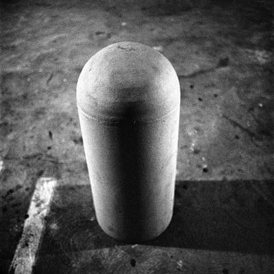 Photograph - Concrete Bollard In Parking Lot by YoPedro