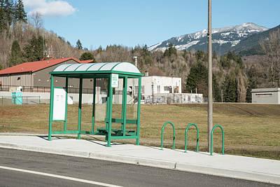 Photograph - Concrete Bus Stop by Tom Cochran